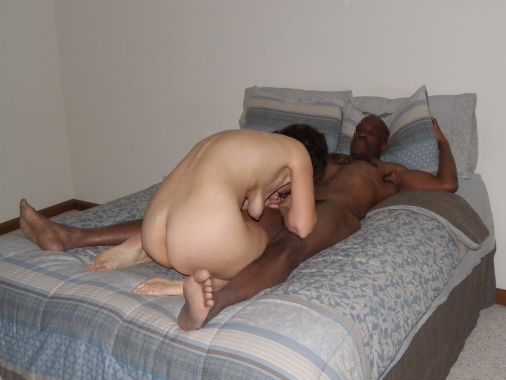 Wife giving husband blow job