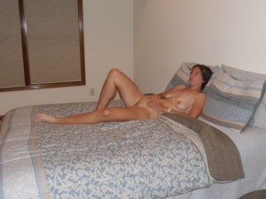 The Wife relaxing naked on the bed