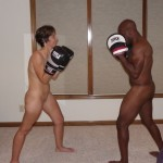 The Wife doing a round of mitts with The Husband