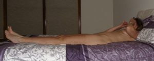 """The Wife sitting naked on the bed after a """"photo"""" session"""